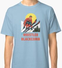 Whistler Blackcomb Vintage Ski Decal Classic T-Shirt