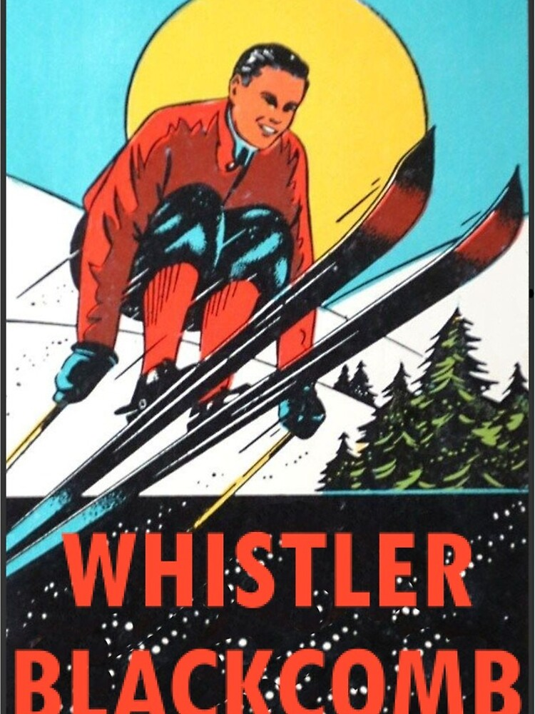 Whistler Blackcomb Vintage Ski Aufkleber von hilda74