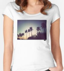 florida palms Women's Fitted Scoop T-Shirt