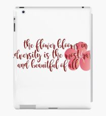 The flower that blooms... iPad Case/Skin