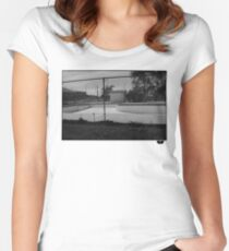 Skate pool Women's Fitted Scoop T-Shirt