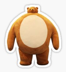 Teddy Bear with a Small Head and Large Body Sticker
