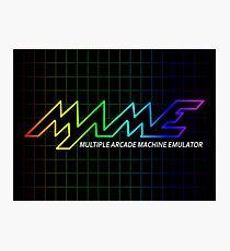 MAME Multiple Arcade Machine Emulator Multicolor Grid Logo Photographic Print