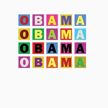 Barack Obama Raibow Blocks by spacedust