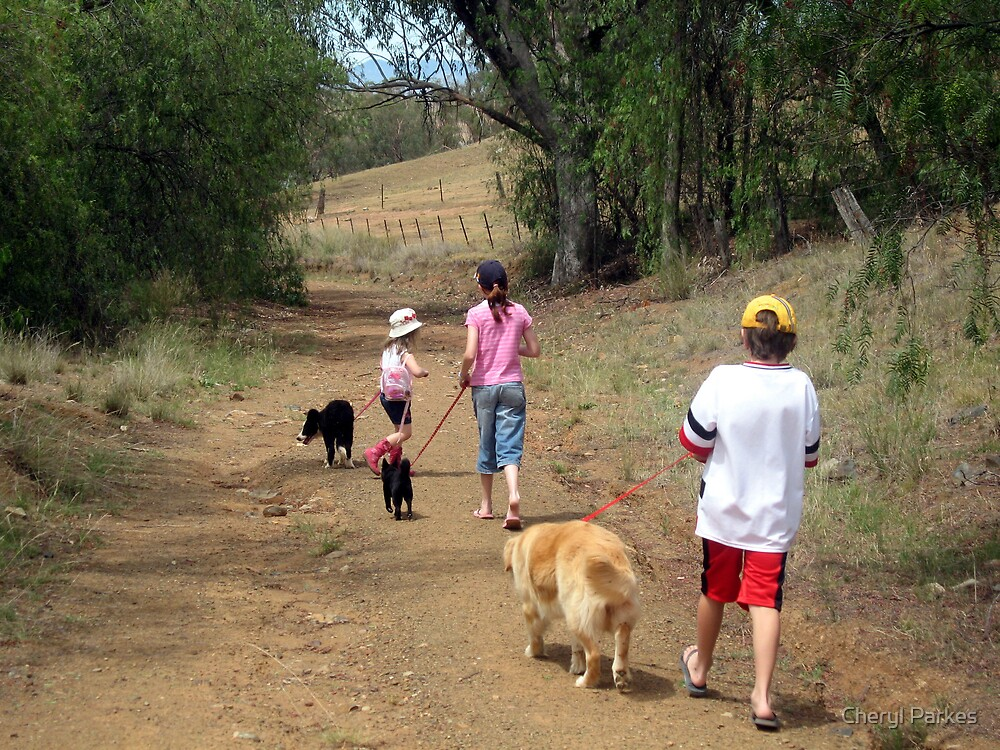 Children and Their Dogs by Cheryl Parkes