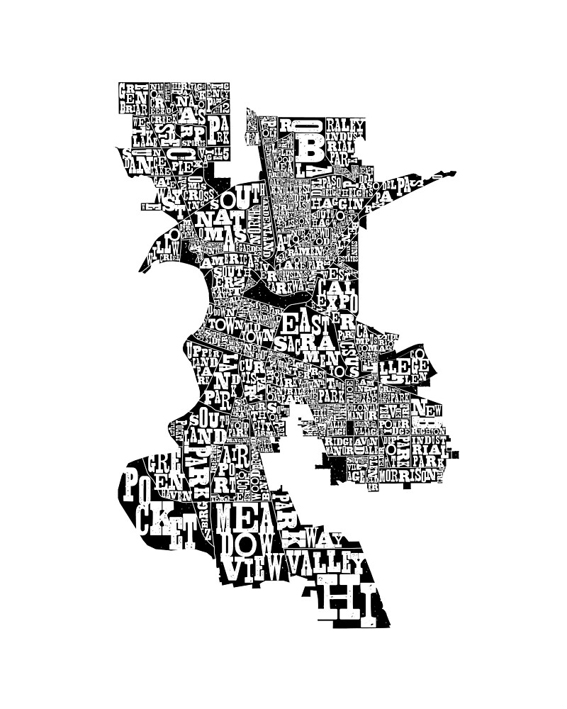 The Neighborhoods of Sacramento by missamberw