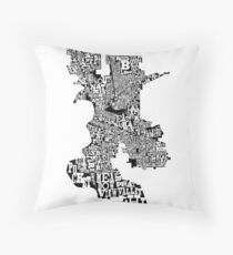 The Neighborhoods of Sacramento Throw Pillow