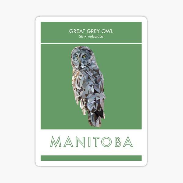 Manitoba - Great Grey Owl Sticker