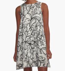 Floral freeform A-Line Dress