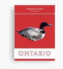 Ontario - Common Loon Canvas Print