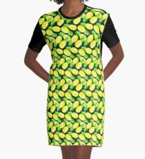 Pineapples - Dark Green Graphic T-Shirt Dress