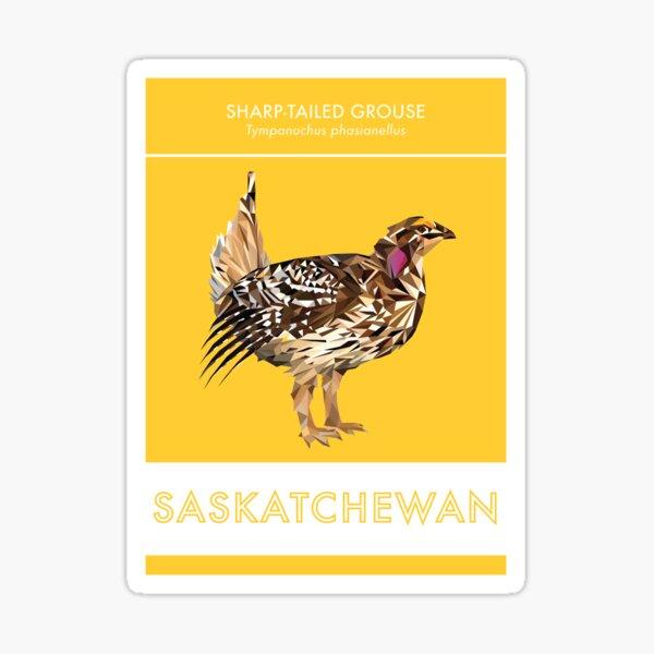 Saskatchewan - Sharp-tailed Grouse Sticker