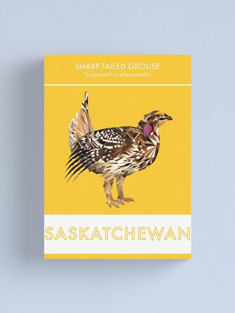 Alternate view of Saskatchewan - Sharp-tailed Grouse Canvas Print
