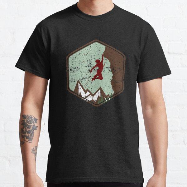 Vintage Rock Climbing Badge Logo Classic T-Shirt