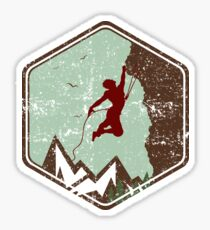 Vintage Rock Climbing Badge Logo Sticker
