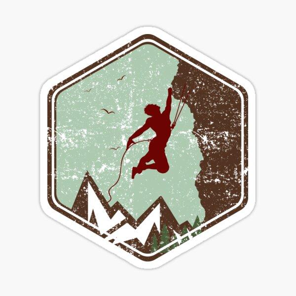 Logotipo de Vintage Rock Climbing Badge Pegatina