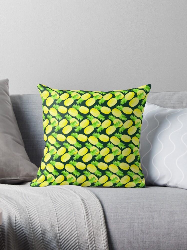 Pineapples - Dark Green by makemerriness
