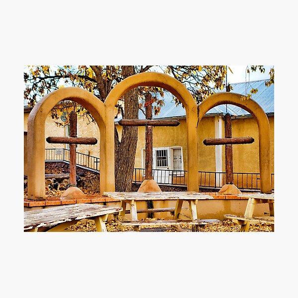 Three Crosses of El Santuario de Chimayo Photographic Print