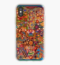 Mexico art Huichol iPhone Case