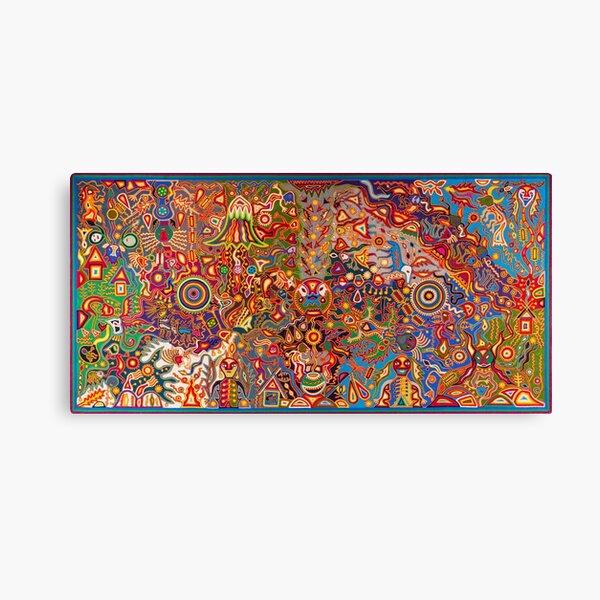 Mexico art Huichol Canvas Print