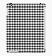 Black Gingham iPad Case/Skin