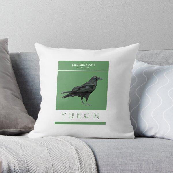 Yukon - Common Raven Throw Pillow