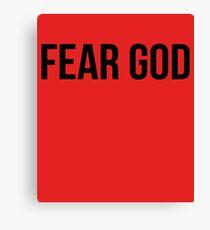 Fear God Spiritual Statement Canvas Print
