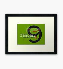 Happy New Year 2009 Framed Print