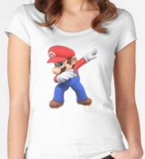 Super Mario Dab Women's Fitted Scoop T-Shirt