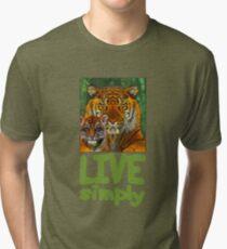 Live Simply Tiger Tri-blend T-Shirt