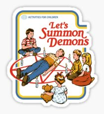 Lass uns Dämonen beschwören Sticker