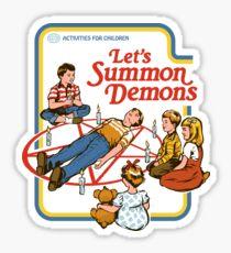 Pegatina Vamos a invocar demonios