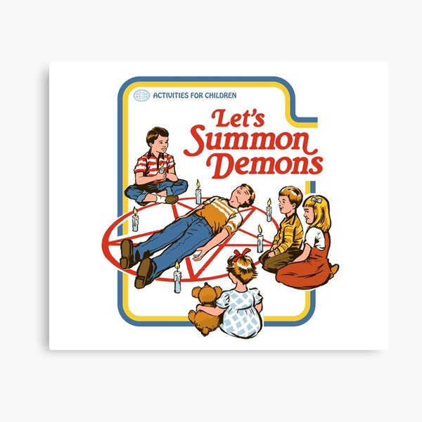 Let's Summon Demons Canvas Print