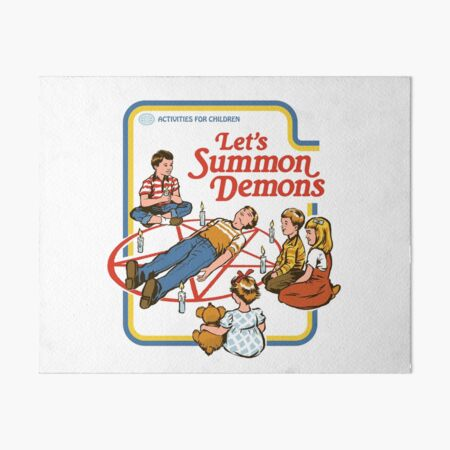 Let's Summon Demons Art Board Print