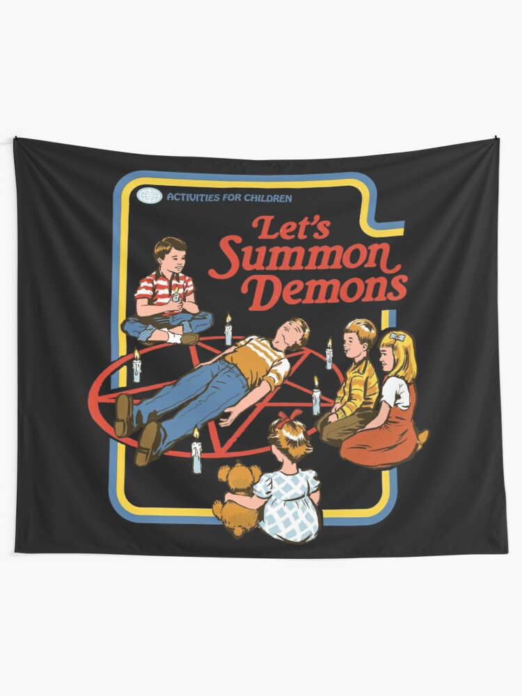 Alternate view of Let's Summon Demons Tapestry