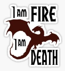 Fire & Death Sticker