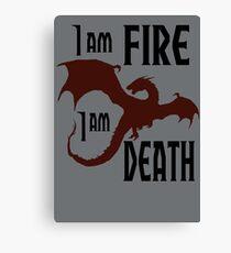 Fire & Death Canvas Print