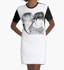 VKook inktober T-Shirt Kleid