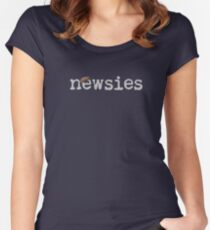 Newsies w/ Cap Women's Fitted Scoop T-Shirt