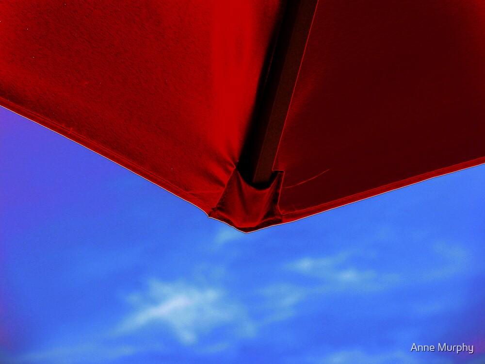 Red umbrella by Anne Murphy