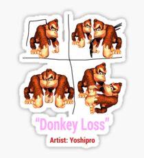 Donkey Loss Sticker