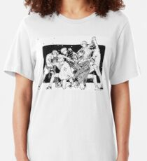 DNA double helix inktober Slim Fit T-Shirt