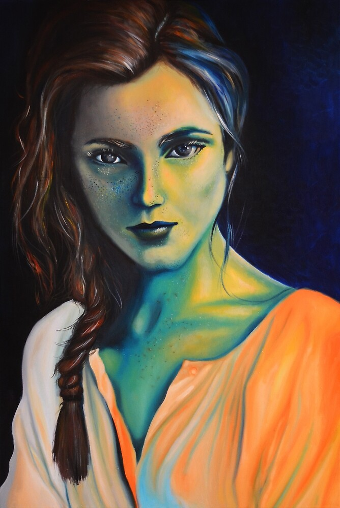 Vanished into the blue, 120-80 cm, 2017, oil on canvas by oanaunciuleanu