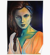 Vanished into the blue, 120-80 cm, 2017, oil on canvas Poster