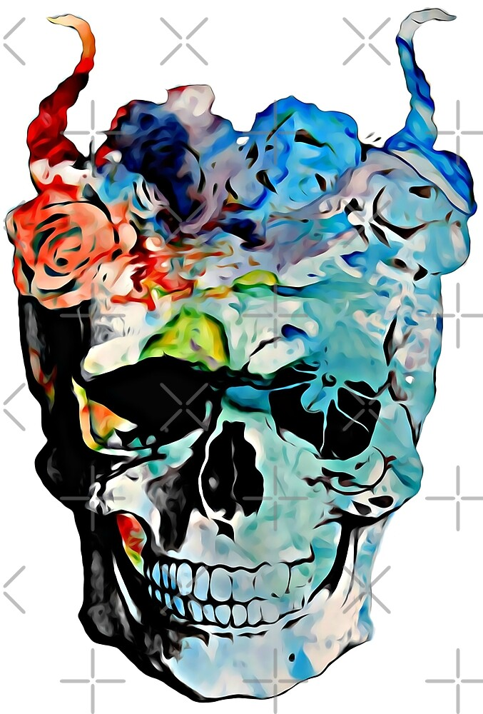 Skulls and Roses by gracefullmess