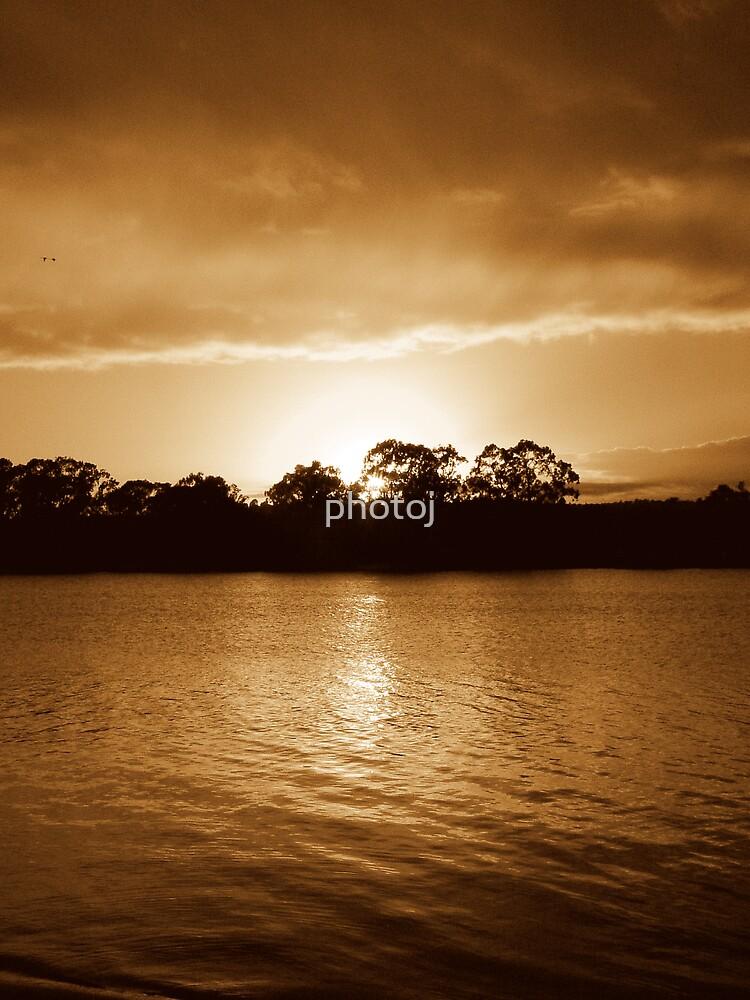 photoj S.A. Sunset On The River Murray by photoj