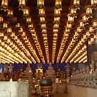 Temple Lights and Buddhas  by Michael McCasland