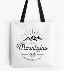 Bolsa de tela montañas transparentes