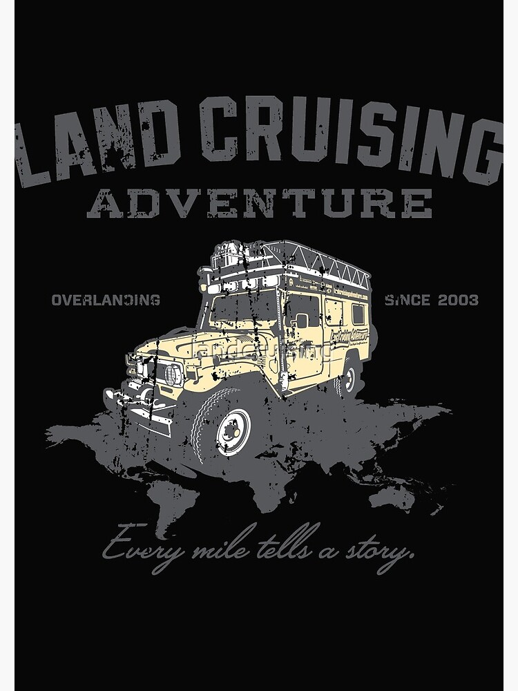 Every Mile Tells a Story - grey print by landcruising
