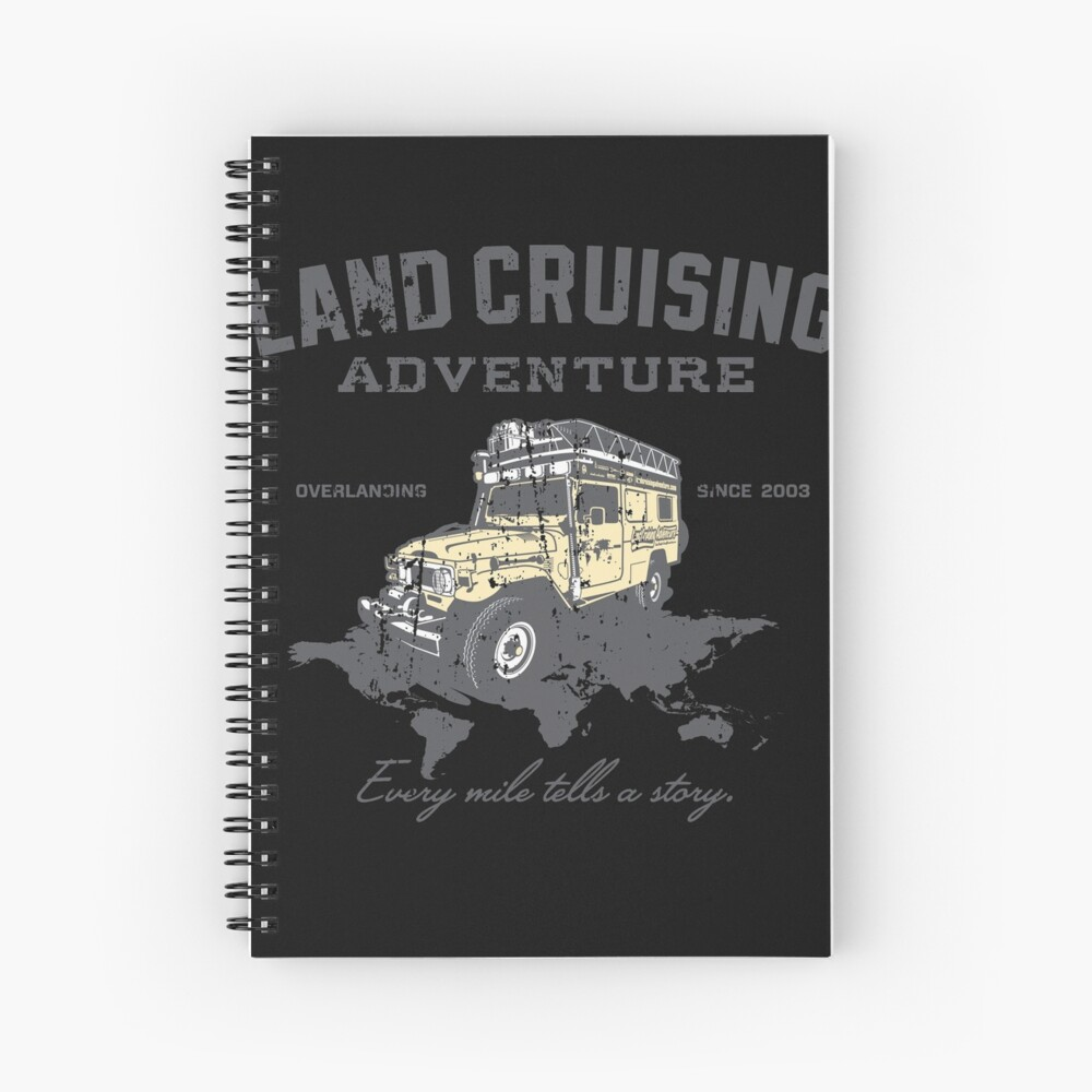 Every Mile Tells a Story - grey print Spiral Notebook
